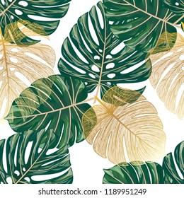 Nahtlose Muster mit tropischen Palmen.Vektorgrafik.
