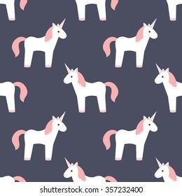 seamless pattern. unicorn. vector illustration