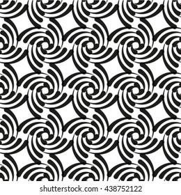 Seamless pattern. Vector background. Repeating spiral curls