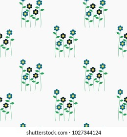 Seamless pattern vector of beautiful tiny flower bouquet. Lovely and sweet flower bouquet on pastel background.