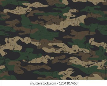 Seamless pattern of vector camouflage