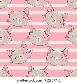 seamless pattern vector, cat pattern