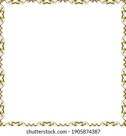 Seamless pattern. Vector. Comic style doodle frame consists of white and brown border.