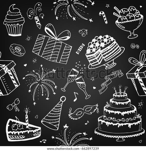 Chalkboard Gift Wrap plus Free Doodle Ideas Printable | Christmas chalkboard,  Christmas doodles, Chalkboard art