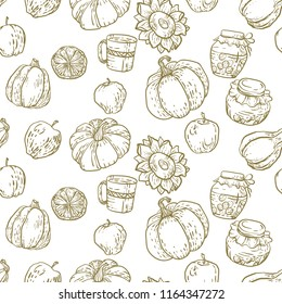 Seamless pattern in vector illustration in graphic design