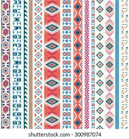 Seamless pattern. Vector illustration for tribal design. Ethnic motif.