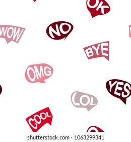 Seamless pattern with vector speech bubbles for your design