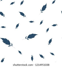 Seamless pattern Very dark blue is much leaves. Vector image for your design.