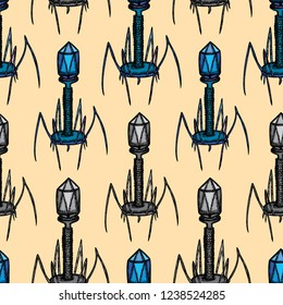 Seamless pattern of virus bacteriophage