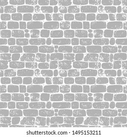 Seamless pattern. Wall of gray jagged stones. Texture for print, wallpaper, home decor, textile, package design, invitation or website background.