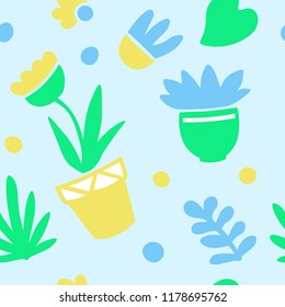 seamless pattern wallflowers