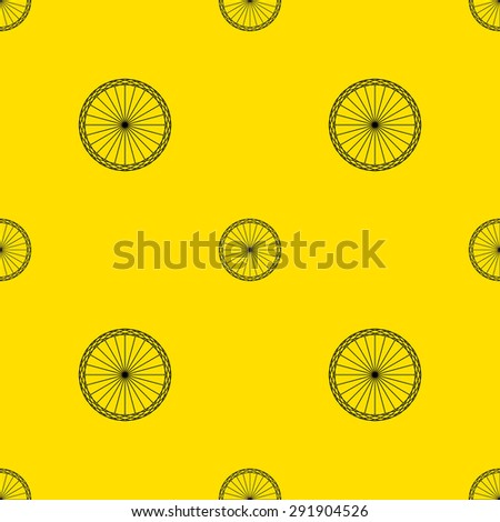 Seamless Pattern Wallpaper Background Packaging Paper Vintage Vector Illustration Bicycle Wheel