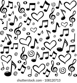 Music Notes Wallpaper Images Stock Photos Vectors