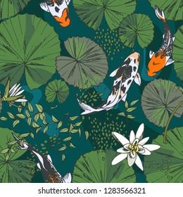 Koi Wallpaper Images Stock Photos Vectors Shutterstock
