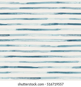 Seamless pattern with watercolor stripes