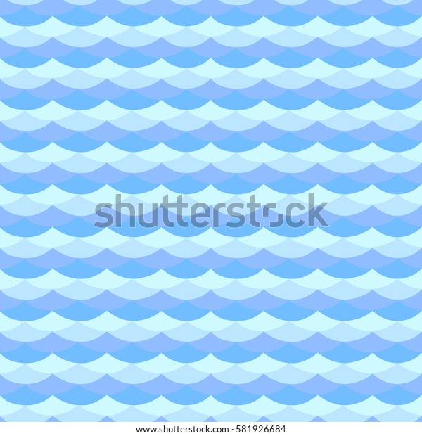 Seamless pattern of waves, the flow of water . For Wallpaper and fabrics. Vector illustration.