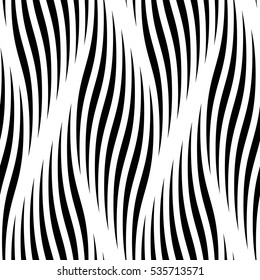 Seamless pattern with waves. Ripple vector background. Abstract braided curve lines. Vector braid curl twisted waves, wavy ripples. Interweaving smooth zigzag textile tracery wallpaper, wrapping paper