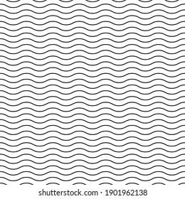 Seamless pattern wavy line vector illustration, horizontal texture wave simple background. Modern decorative element .