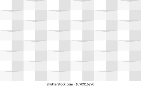 Seamless pattern with weave ornament. Squares with different shades. Beautiful abstract 3d geometric background. Simple modern design template. Flat style vector illustration.