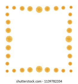 Seamless pattern of whole and cut oranges on a white background. Fruit. Design for textiles, posters, banners. Vector illustration.