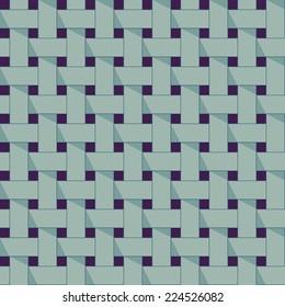 Seamless pattern of wicker lines in vector.