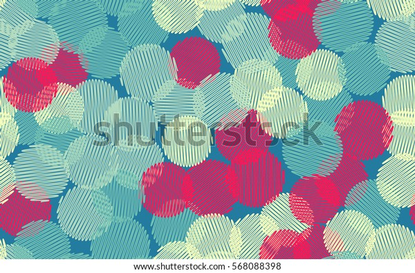 Seamless pattern. Wire wheels. The shaded circle. Random order. Chaotic spread. Fashion camouflage.