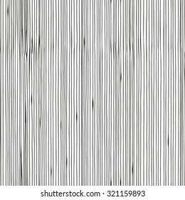 Seamless pattern with wood texture. Hand-drawn vertical lines. Made by trace from sketch. Ink pen. Black and white pattern in vector.