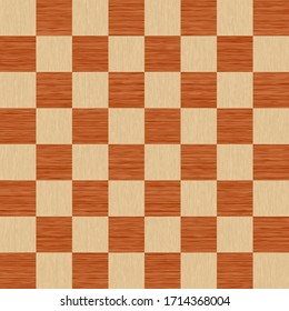 Seamless pattern Wooden structure. Chess board.Yelolow & red.
