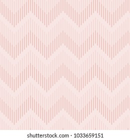 Seamless pattern of a zigzag line with light pink background.