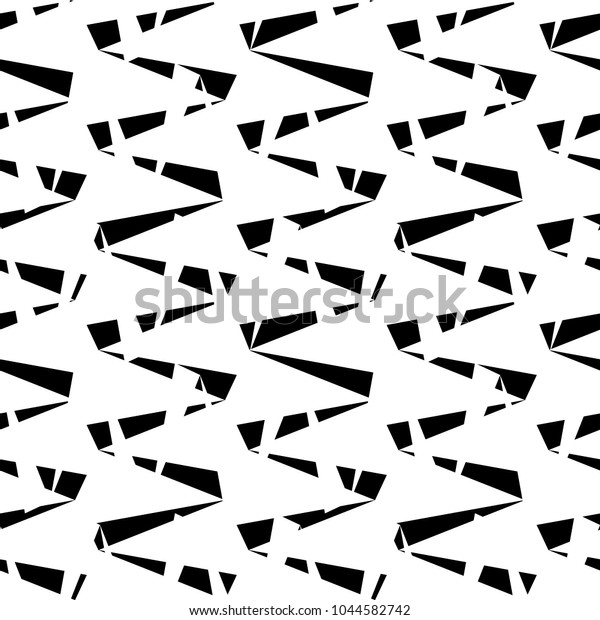 Seamless Pattern Zigzag Lines Triangular Waves Stock Vector