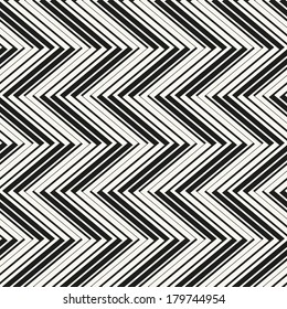 Seamless pattern with zigzag stripes. Corrugated texture. Pinstripe print with volume effect
