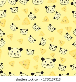 Seamless patterns with cute mouse Backgrounds childish creative vector for fabrics, textiles