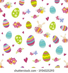 Seamless patterns with easter eggs. for greeting cards, posters, invitations, web sites, posts, presentations, phone  wallpapers, stickerst, shirts, pillows, mugs, wrappings, fabrics, wallpapers