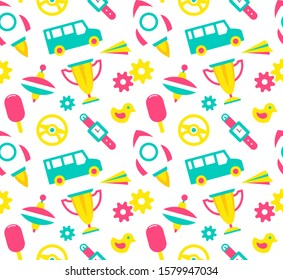 Seamless patterns for kids. isolated on white background