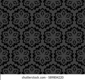 Seamless patterns. Vintage decorative ethnic floral ornament. vector illustration. oriental design for print, wallpaper, decor, fabric, textile