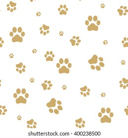 Seamless paw, web icon. vector design