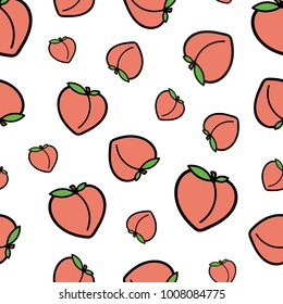 Seamless Peach Repeat Pattern
