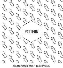 Seamless Peanuts Pattern in Black and White