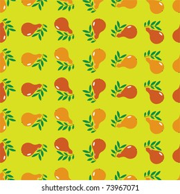 Seamless pears pattern. Kitchen tablecloth - eps 10