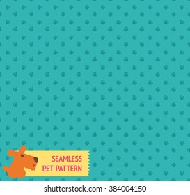 Seamless pet pattern in vector