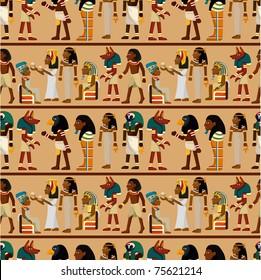 seamless pharaoh pattern