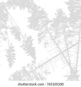 Seamless pine pattern. Vector
