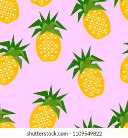 Seamless pineapple geometric pattern, vector illustration. Design backgrounds for invitation, brochure and promotion template