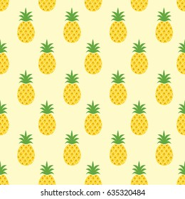 Seamless pineapple pattern / cute pineapple doodle pattern for textile fabric or wallpaper backgrounds