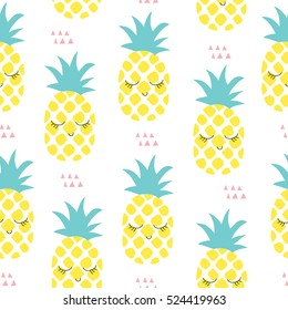 seamless pineapple pattern vector illustration