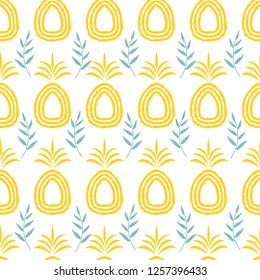 Seamless pineapple repeating pattern