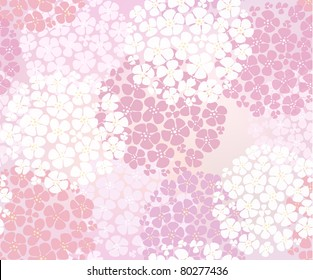 Seamless pink abstract floral background