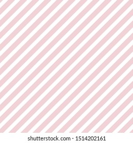 Seamless pink diagonal striped background, pastel pale colors, design for fabric, textile, fashion, wedding design, pillow case, gift wrapping paper, web.