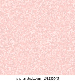 Seamless pink floral background with roses. Texture with flowers. Can be used for wallpaper, pattern fills, textile, web page background, surface textures. Vector illustration.