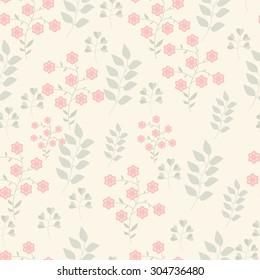 Seamless pink flower design